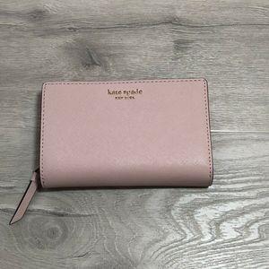 Kate Spade Cameron Medium Bifold Wallet Pale Pink